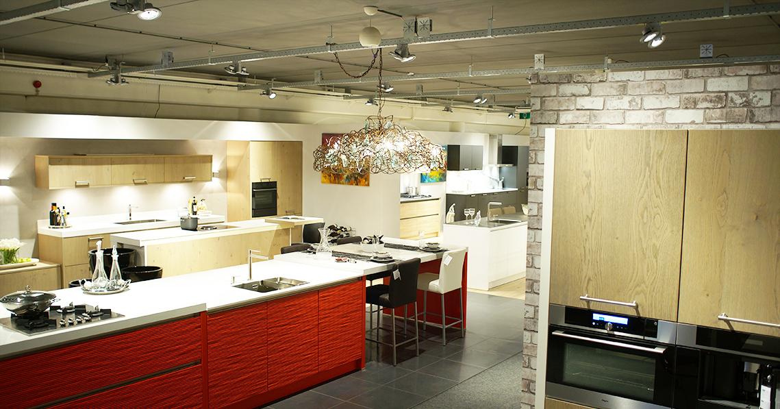 verbatim lighting   case study: eiland de wild keuken-showroom