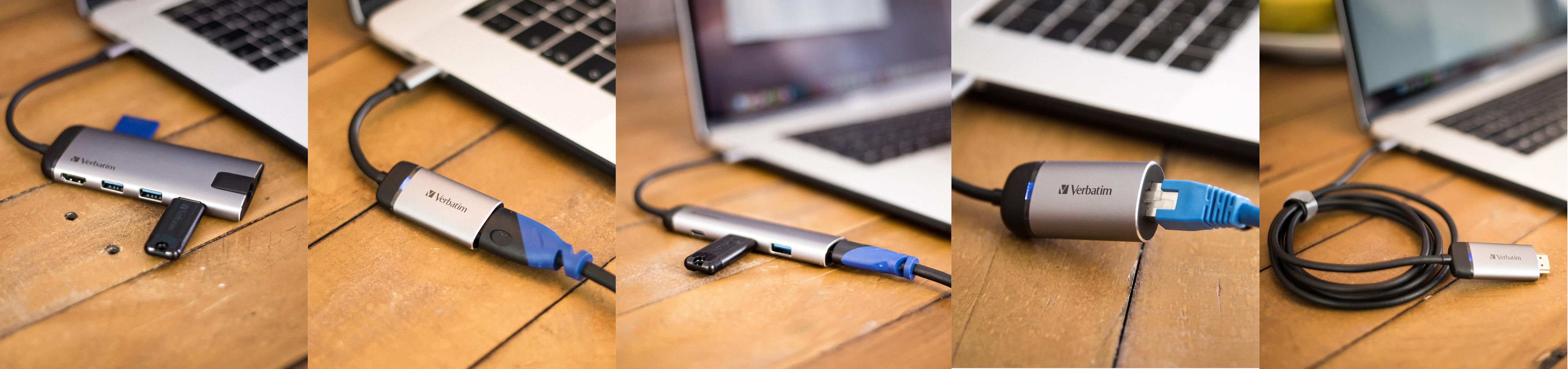 Hub multiport USB-C™ Verbatim - USB 3.0 | HDMI | Gigabit Ethernet | SD/microSD